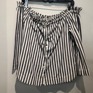 MADEWELL off shoulder striped top